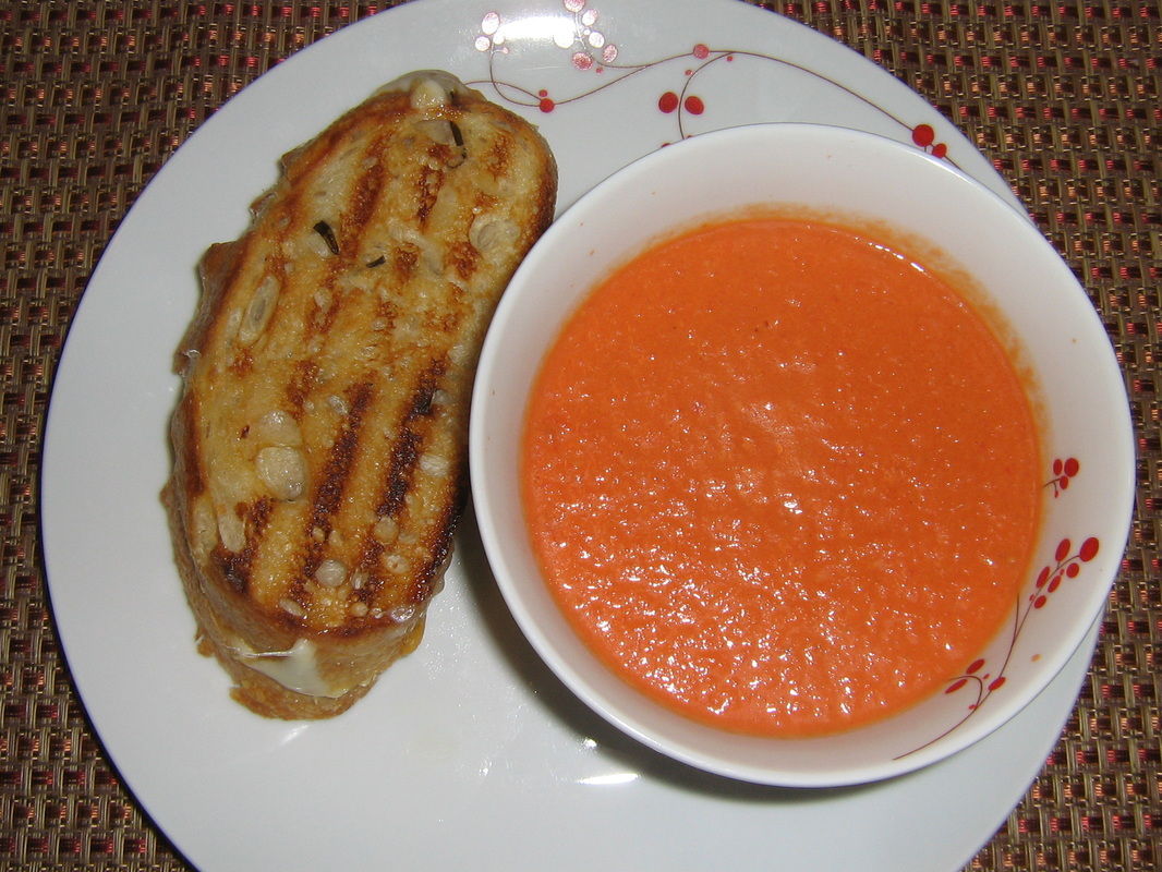 homemade tomato soup amp gourmet grilled cheese bon appetit
